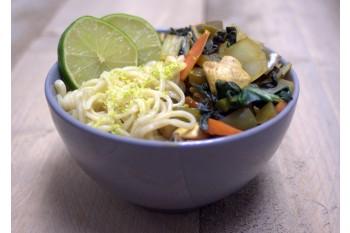 Thaise champignon roerbakschotel
