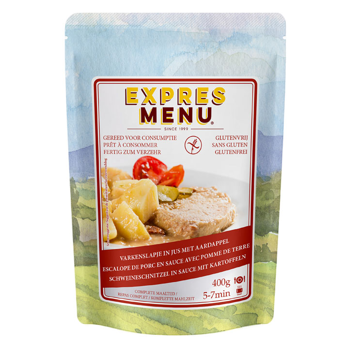 Expres Menu Complete maaltijd varkensvlees aardappel glutenvrij